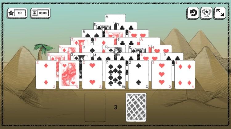 pelikone pyramidi pasianssi